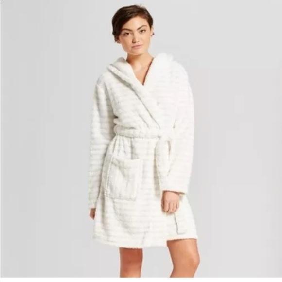 f081fce6b7 Women s Xhilaration hooded robe glitter stripped